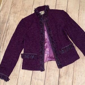 St. John Couture Purple blazer and skirt set